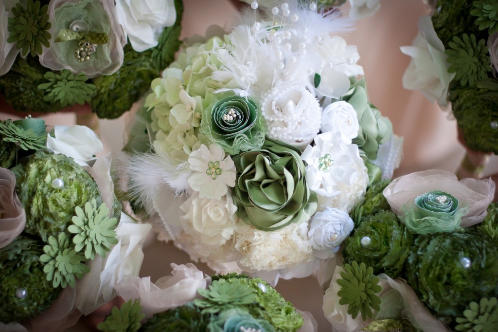 Jessie Bridal and Bridesmaid Bouquets