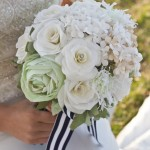 bride and bouquet_white & green 9