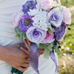 bride and bouquet_white & violet 3