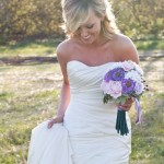 bride and bouquet_white & violet 4