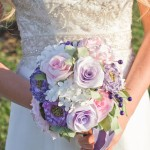 bride and bouquet_white & violet 5