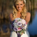 bride and bouquet_white & violet 6