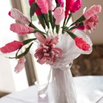 Handcrafted Fabric Floral Centerpiece 3