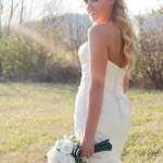 bride and bouquet_white & green 1