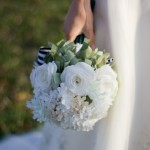 bride and bouquet_white & green 4